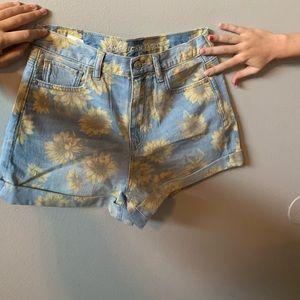 American eagle sunflower shorts
